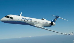 Rendering of a RwandAir Bombardier CRJ900