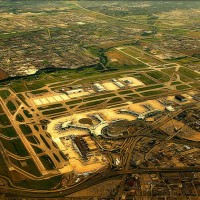 Aerial view of Toronto Pearson International Airport