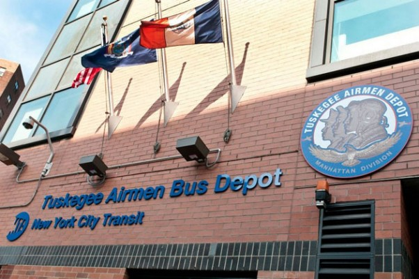Tuskegee Airmen Bus Depot in New York