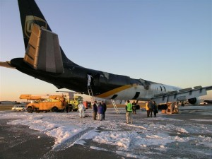 This UPS DC-8 was lucky enough to get on the ground in Philadelphia before the aircraft was engulfed