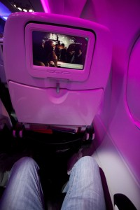Virgin America Main Cabin Economy seating.