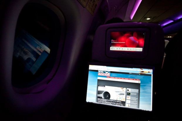 Surfing NYCAviation from 40,000 feet with Virgin America's wifi