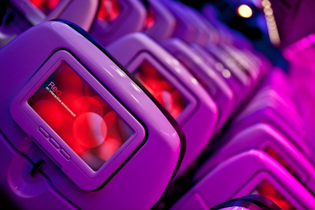 Virgin America&#039;s Red entertainment system