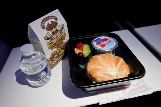 Another meal on Virgin America