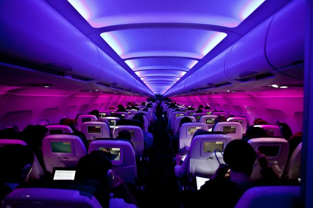 Virgin America Cabin.