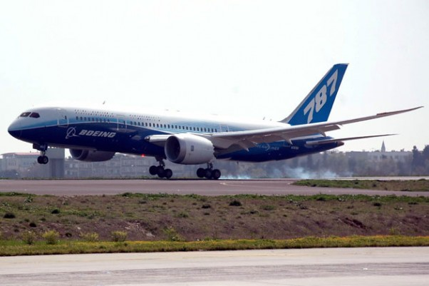 The 787 Dream Tour plane touches down in Istanbul in April.