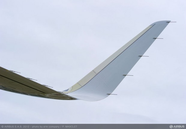 Sharklet closeup. (Photo by Airbus)