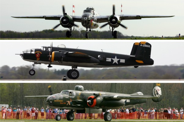 Over a dozen North American B-25 Mitchell bombers gathered in Ohio this month. (Photo by Bryan Heim/NYCAviation)