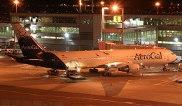 AeroGal's Boeing 767-300ER (HC-CIJ) at JFK's Terminal 4 prior to its late night departure. (Photo by Senga Butts)
