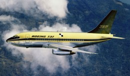 The first Boeing 737-100 (N73700) in house colors. (Photo by Boeing)