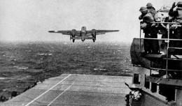 One of the 16 US Army Air Forces B-25 Mitchell bombers that took off from the USS Hornet for the Doolittle Raid. (Photo by US Navy)