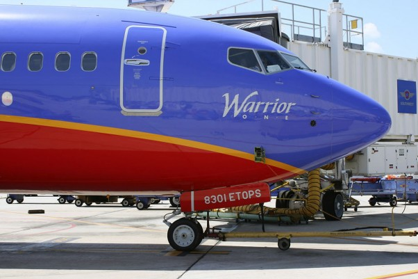 Southwest&#039;s first Boeing 737-800 (Warrior One, N8301J) about to depart Fort Lauderdale for Chicago Midway on its second revenue flight.