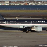A US Airways Airbus A319 at LaGuardia Airport