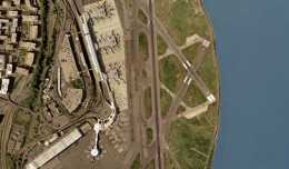 Satellite view of Ronald Reagan Washington National Airport.