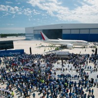 The first Boeing 787-8 Dreamliner built at the airframer's new North Charleston, South Carolina, assembly facility. (Photo by Boeing)
