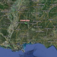 The plane went down in Macon, Miss., about 100 miles northeast of Jackson. (Map by Matt Molnar/Google)
