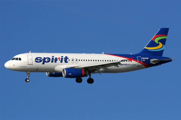 A shiny Spirit Airlines Airbus A320. (Photo by Matt Molnar)