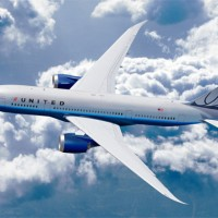 Rendering of a 787 wearing United's previous livery. (Image by Boeing)