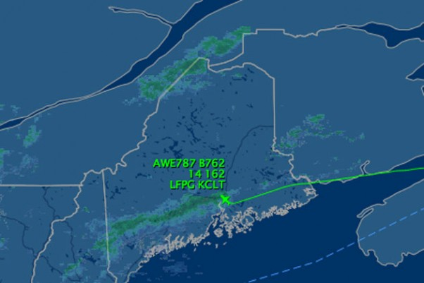 Flight path of US Airways Flight 787