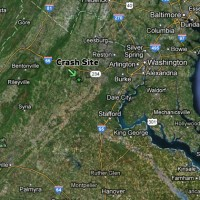 The Memorial Day crash occurred in the skies over Warrenton, VA., about 40 miles west of Washington, DC. (Map by NYCAviation/Google)