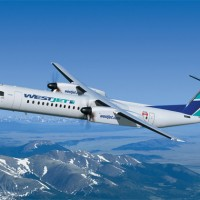 Rendering of a WestJet Bombardier Dash 8 Q400. (Image by Bombardier)