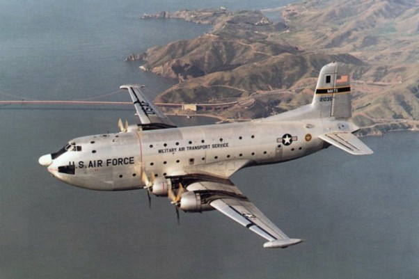The C-124 Globemaster served as a transport workhorse well into the Vietnam War. (Photo by US Air Force)