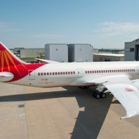 Air India&#039;s Boeing 787 Dreamliner, VT-ANI, outside of Boeing&#039;s Texas painting facility. (Photo by Boeing)