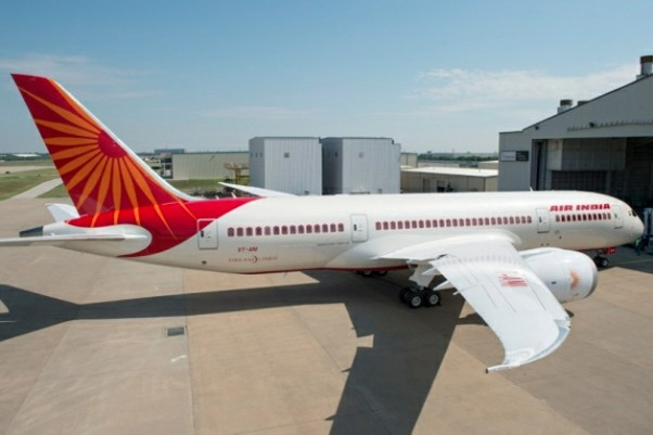 Air India's Boeing 787 Dreamliner, VT-ANI, outside of Boeing's Texas painting facility. (Photo by Boeing)