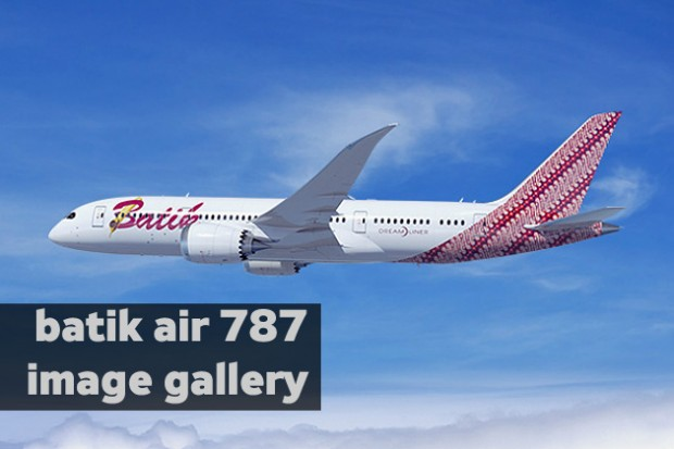 Click for more images of the Batik Air 787 Dreamliner.