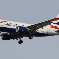 The British Airways baby bus G-EUNA on final approach to New York's JFK Airport. (Photo by Kaz T)
