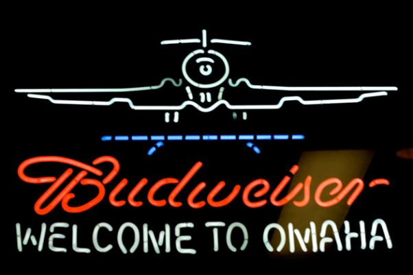 Could this snazzy neon Budweiser sign soon welcome you at an airport near you? (Photo by Jeremy Brooks, CC BY-NC)