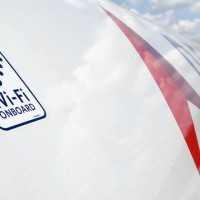 Decal indicating a wifi-enabled Delta aircraft. (Photo by Delta Air Lines)