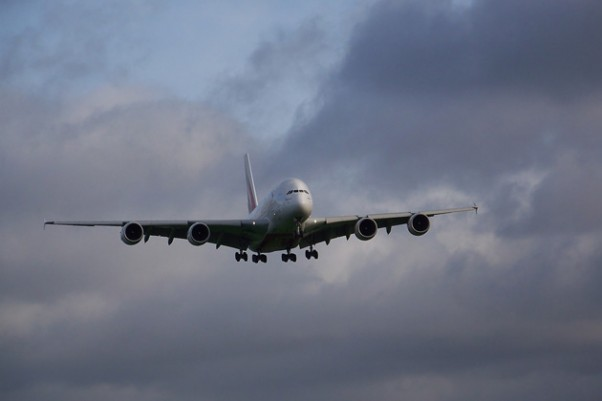 An Emirates Airbus A380 on final approach. (Photo by MCPCShowcaseHD)