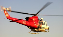 Los Angeles City Fire Department Air Ops 1, a Bell 412 (N301FD). (Photo by Alan Radecki, via Wikipedia)