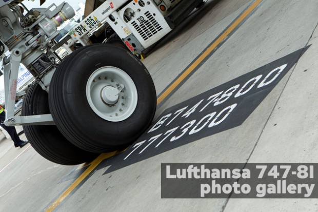 Lufthansa 747-8I inaugural flight photos