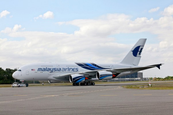 Malaysia Airlines Airbus A380 (9M-MNA). (Photo by Airbus)