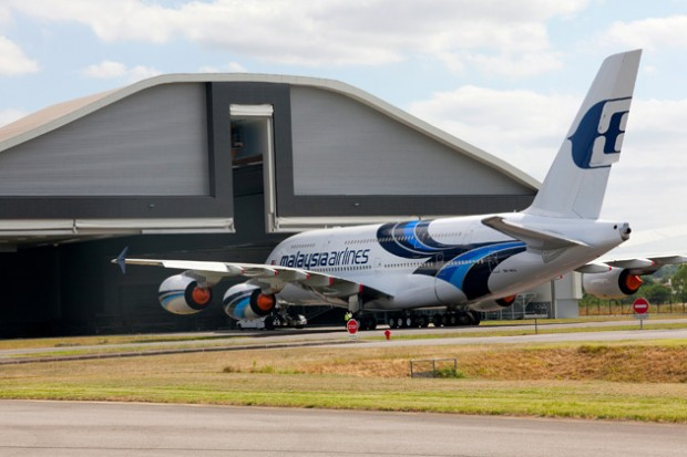 Malaysia Airlines Airbus A380. (9M-MNA) (Photo by Airbus)