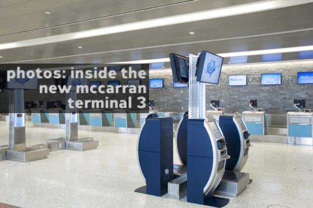 Click for 10 more photos of McCarran's new Terminal 3.