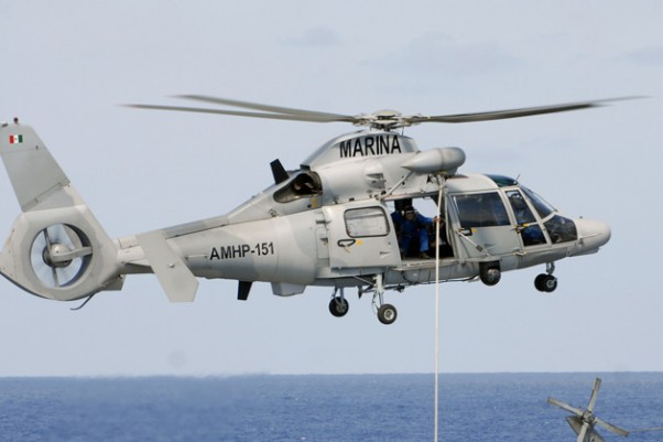 A Mexican Marines Eurocopter AS565 Panther helicopter similar to the one that crashed. (Photo by Mass Communication Specialist Seaman Patrick Grieco/US Navy)