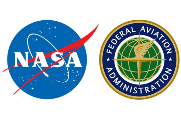 NASA and FAA logos