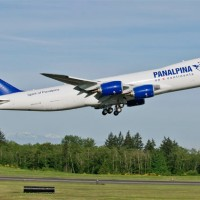 Atlas Air's fourth Boeing 747-8F (N850GT) wears a Panalpina livery. (Photo by Boeing)