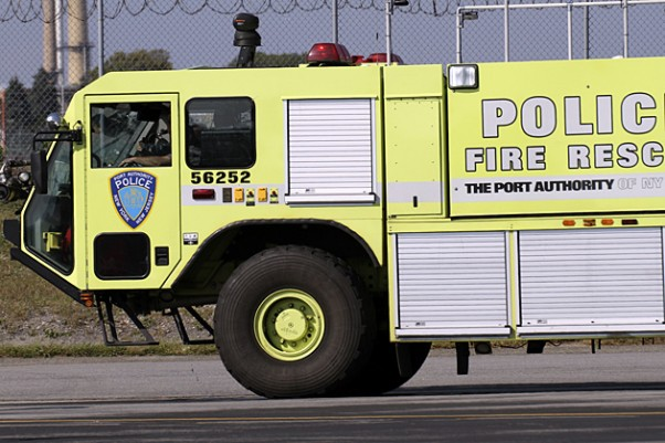 A Port Authority fire truck in action. (Photo by Matt Molnar)