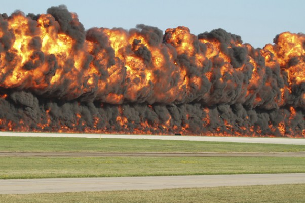 Did any runways catch fire due to the heat today? Almost. (Photo by Matt Molnar)