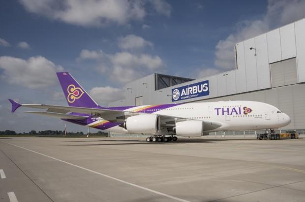 Thai Airways First Airbus A380 HS-TUA 0087