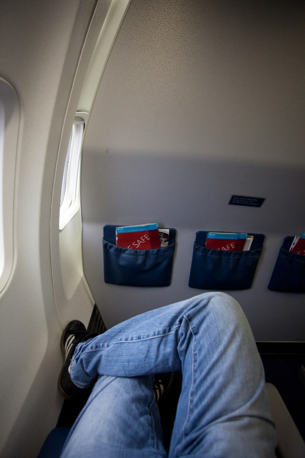 Delta Economy Comfort Seat 10A (Photo by Jeremy Dwyer-Lindgren)
