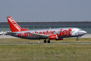 "Jet2.com Boing 737-300 (G-CELI) ""Manchester Jet"". (Photo by Juergen Lehle, CC BY-SA)"