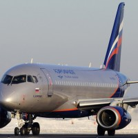 An Aeroflot Sukhoi Superjet 100 (RA-89004, named K.H. Tskhovrebov) taxis at Moscow - Sheremetyevo Airport. (Photo by Nikiforov Konstantin, via wikimedia)