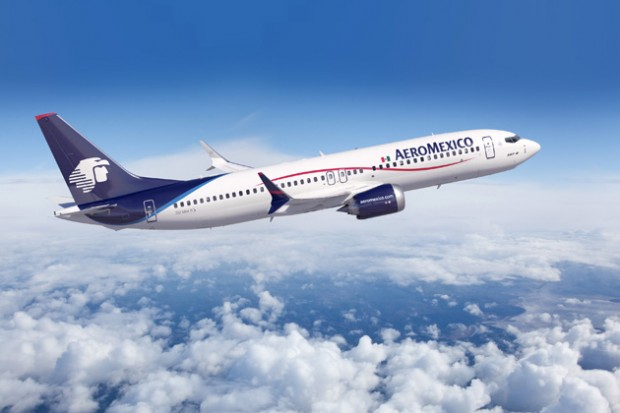 Aeromexico Boeing 737 MAX 8, right side view. (Image by Boeing)
