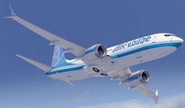 Rendering of Boeing 737 MAX 8 wearing Air Lease Corporation livery. (Image by Boeing)