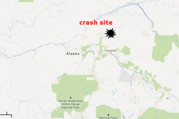 Crash site of the Piper PA-32 Saratoga. (Map by Google/Matt Molnar)